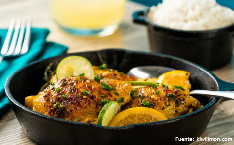 Pollo al limón.
