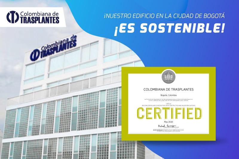 Colombiana de Trasplantes recibe la certificación LEED