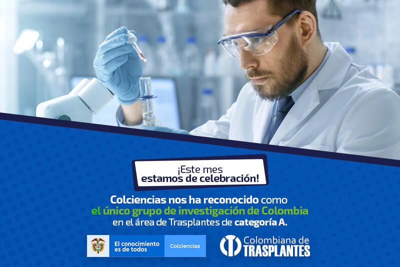 Colombiana de Trasplantes, líder en investigación.