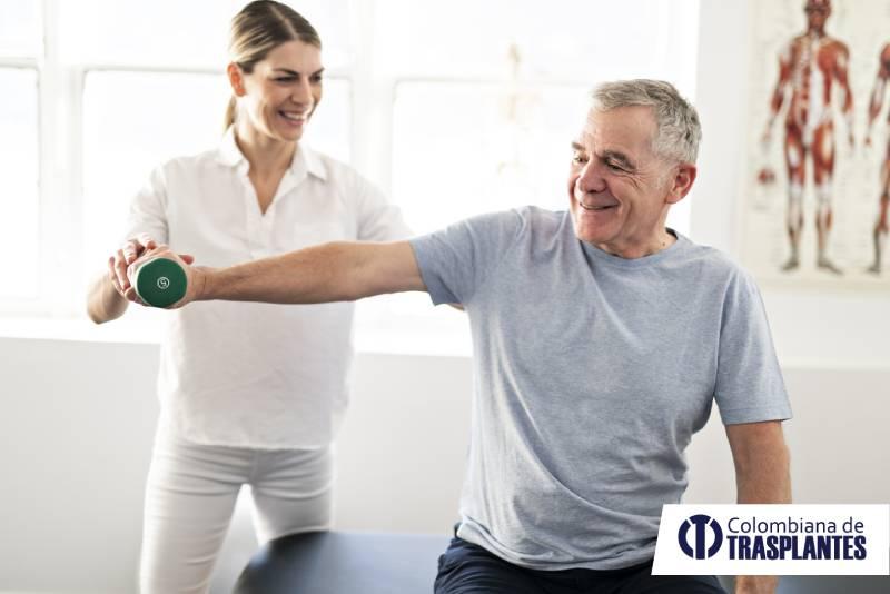 paciente trasplantado haciendo ejercicio